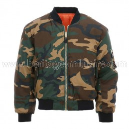 Jacket US MA1 Aviator woodland