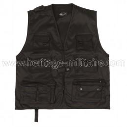 Multipocket vest black