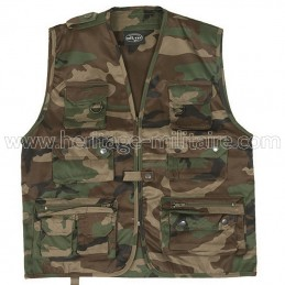 Gilet multipoches woodland