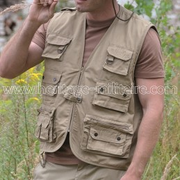 Gilet multipoches sable