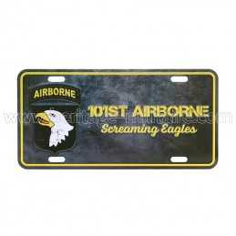 License plate 101st airborne