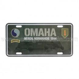License plate Omaha beach