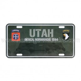 License plate Utah beach
