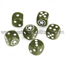 Set military dices (6 pieces)