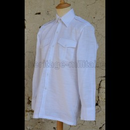 French military white shirt...