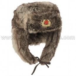 Chapka Russian hat brown