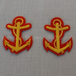 Naval officer's anchors...