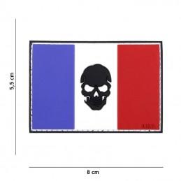 """3D PVC French flag """"Skull""""..."""