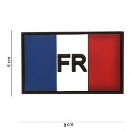 3D PVC French flag patch...