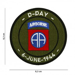 """Patch """"D-DAY 82nd Airborne""""..."""