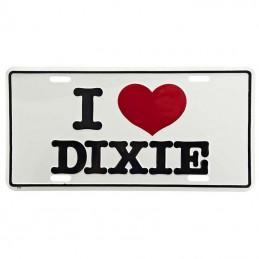 License plate I Love Dixie