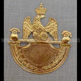 Shako plate 1812 grenade brass