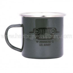 "Mug émaillé ""US army"""