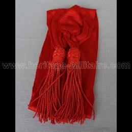 Officier sash red silk