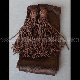 Officier sash brown silk