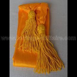Officier sash dark yellow silk
