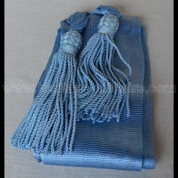 Officier sash sky blue silk