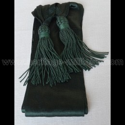 Officier sash green silk