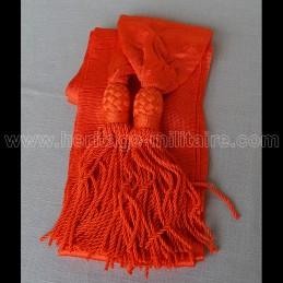 Officier sash orange silk