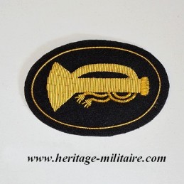 Bugle embroidered officer...