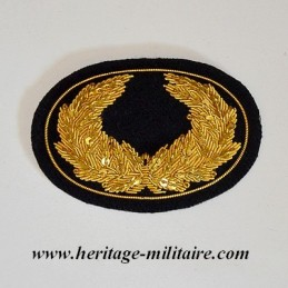 Laurel embroidered officer...