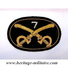 Fabric insignia with regiment number