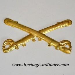 Cavalry metal badge civil war