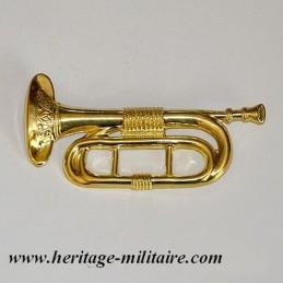 Bugle metal badge civil war