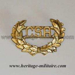 CSA Laurel metal badge...