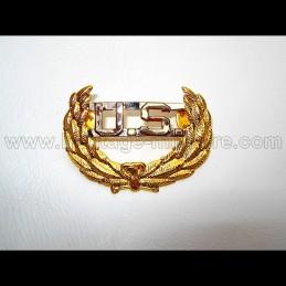 US Laurel metal badge civil...