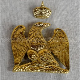 Brass eagle and crown for...