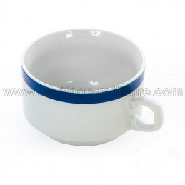 Porcelain mug white / blue