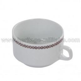 Porcelain mug white / brown