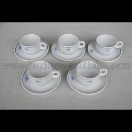 5-piece porcelain cup and...