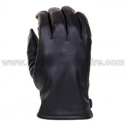 Black leather gauntlet...