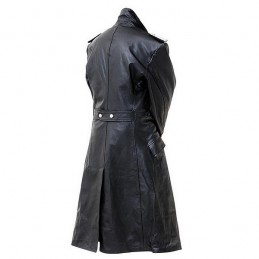 Germain leather officer trench coat WWII
