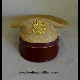"""Casquette d'officier pilote USAAF """"Cap Crusher"""" chinos"""