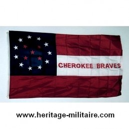 "Drapeau confédéré ""Cherokee braves"""