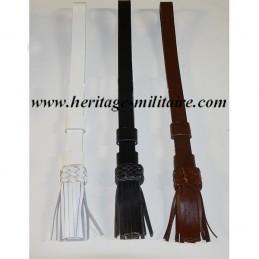 Dragonne de sabre en cuir à franges