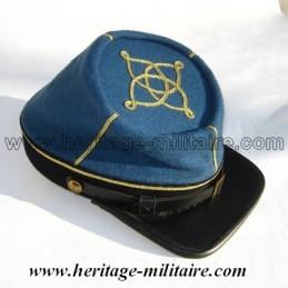 Képi CS officier Infanterie 1861 bleu ciel foncé