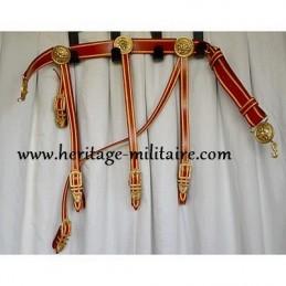 Ceinturon d'officier complet avec bélières de sabretaches et soutache (galon)