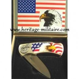"Folding knife + box ""USA"""