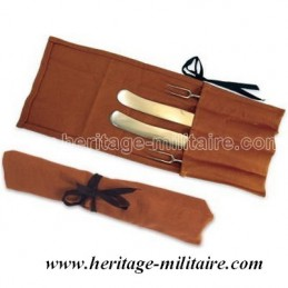 Fabric pouch for eating utensils