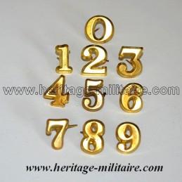 Insigne en métal chiffre
