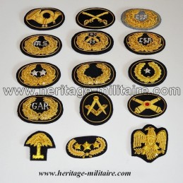 Embrodered insignia officer small for kepi