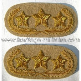 Insignes de col de général 3 étoiles