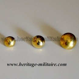 Button half spherical brass.