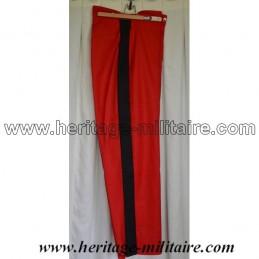 Pantalon d'officier français rouge bande noire Napoleon III