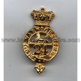 """Insigne de beret Britannique du """"24ème régiment à pied"""" 1879"""