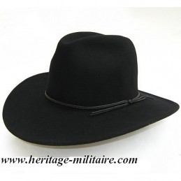 Soft felt black hat